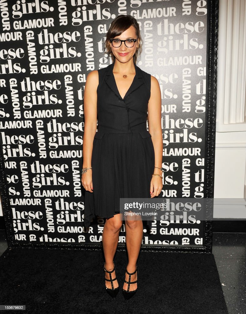 Actress <a gi-track='captionPersonalityLinkClicked' href=/galleries/search?phrase=Rashida+Jones&family=editorial&specificpeople=2133481 ng-click='$event.stopPropagation()'>Rashida Jones</a> attends Glamour Presents 'These Girls' at Joe's Pub on October 8, 2012 in New York City.