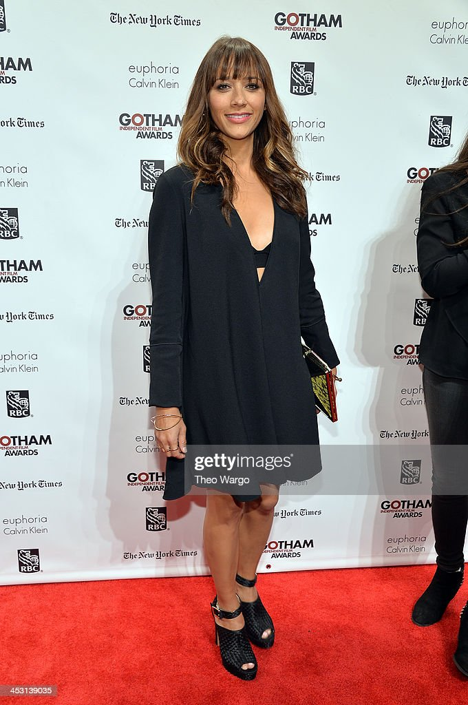 Actress <a gi-track='captionPersonalityLinkClicked' href=/galleries/search?phrase=Rashida+Jones&family=editorial&specificpeople=2133481 ng-click='$event.stopPropagation()'>Rashida Jones</a> attends IFP's 23nd Annual Gotham Independent Film Awards at Cipriani Wall Street on December 2, 2013 in New York City.