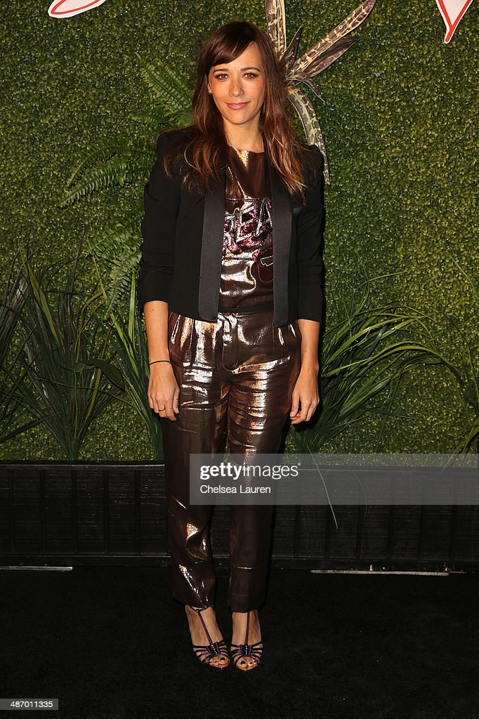Actress Rashida Jones attends Lanvin And Living Beauty Host An Evening Of Fashion on April 26, 2014 in Beverly Hills, California.
