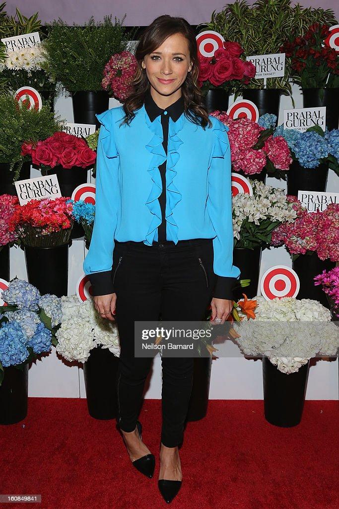 Actress Rashida Jones attends Prabal Gurung for Target launch event on February 6, 2013 in New York City.