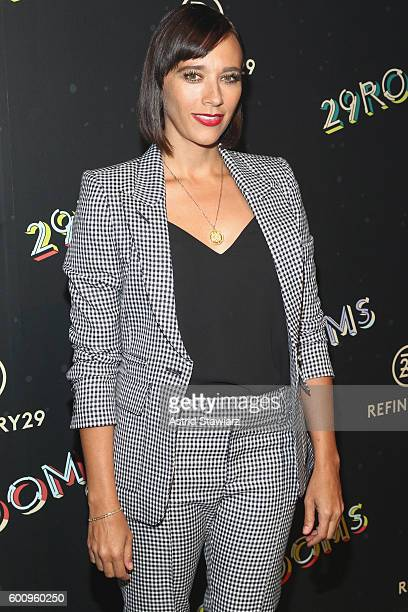 Actress Rashida Jones attends Refinery29's Second Annual New York Fashion Week Event '29Rooms' on September 8 2016 in Brooklyn New York