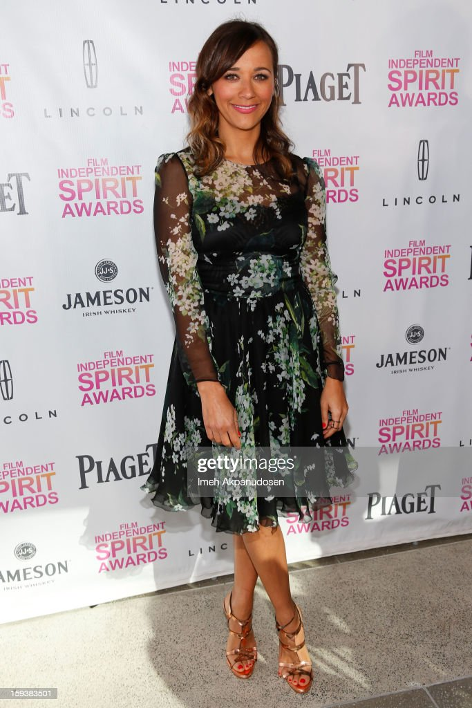 Actress Rashida Jones attends the 2013 Film Independent Filmmaker Grant And Spirit Award Nominees Brunch at BOA Steakhouse on January 12, 2013 in West Hollywood, California.