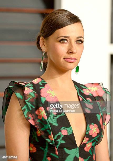 Actress Rashida Jones attends the 2015 Vanity Fair Oscar Party hosted by Graydon Carter at Wallis Annenberg Center for the Performing Arts on...