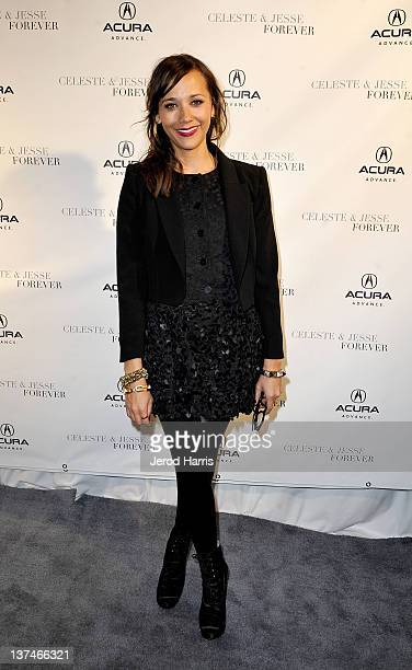 Actress Rashida Jones attends the 'Celeste and Jesse Forever' dinner held at Acura Studio on January 20 2012 in Park City Utah