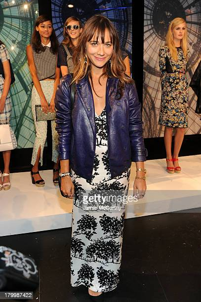 Actress Rashida Jones attends the Charlotte Ronson Presentation during MercedesBenz Fashion Week Spring 2014 at The Box at Lincoln Center on...