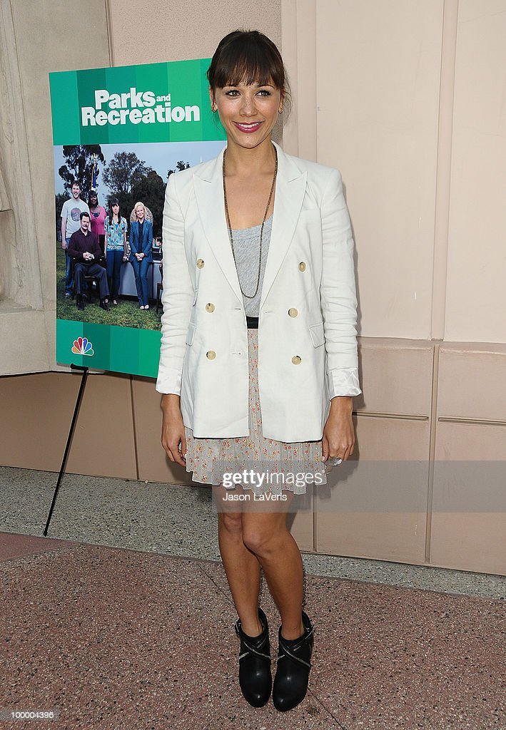 Actress Rashida Jones attends the 'Parks And Recreation' Emmy screening at Leonard H. Goldenson Theatre on May 19, 2010 in North Hollywood, California.