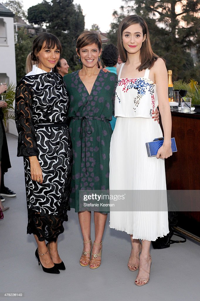 Actress Rashida Jones, Glamour Editor-in-Chief Cindi Leive and actress Emmy Rossum attend a dinner to celebrate Glamour's June Success Issue, hosted by Glamour Editor-in-Chief Cindi Leive & Maiyet Co-Founder Kristy Caylor at Chateau Marmont on May 29, 2015 in Los Angeles, California.