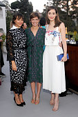 Actress Rashida Jones Glamour EditorinChief Cindi Leive and actress Emmy Rossum attend a dinner to celebrate Glamour's June Success Issue hosted by...