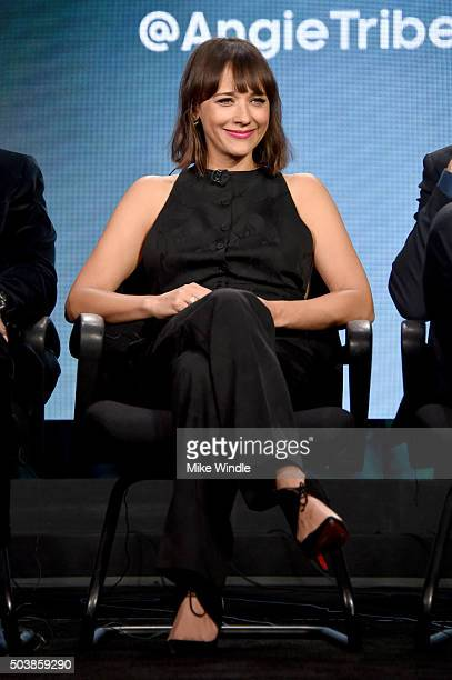 Actress Rashida Jones of 'Angie Tribeca' speaks onstage during the 2016 TCA Turner Winter Press Tour Presentation at the Langham Hotel on January 7...