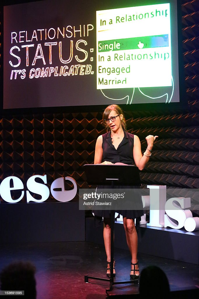 Actress <a gi-track='captionPersonalityLinkClicked' href=/galleries/search?phrase=Rashida+Jones&family=editorial&specificpeople=2133481 ng-click='$event.stopPropagation()'>Rashida Jones</a> performs at Glamour Presents 'These Girls' at Joe's Pub on October 8, 2012 in New York City.