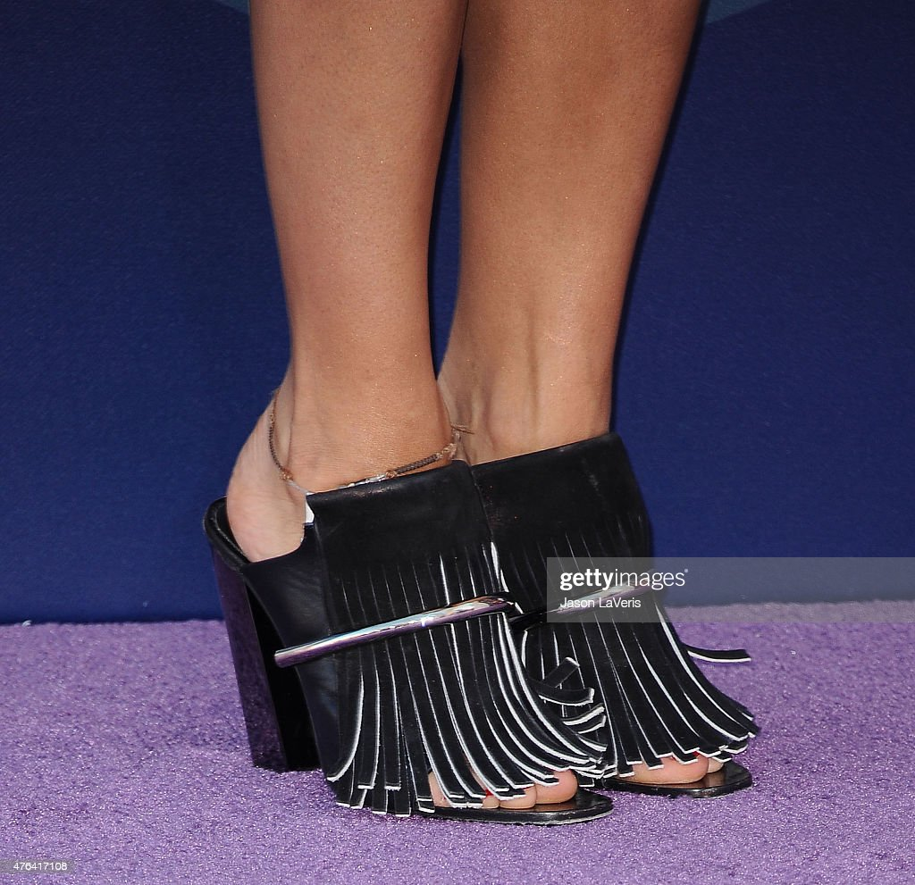 Actress Rashida Jones shoe detail attends the premiere of 'Inside Out' at the El Capitan Theatre on June 8 2015 in Hollywood California