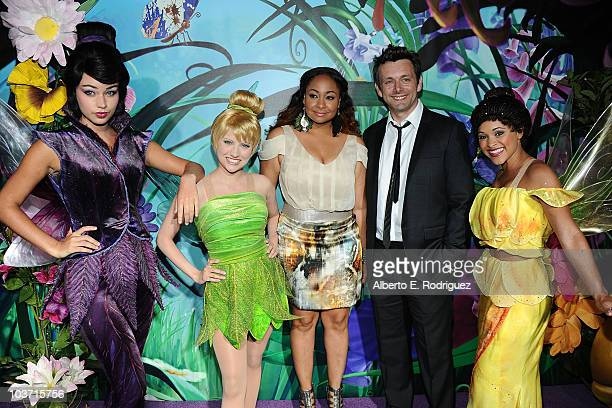 Actress RavenSymone and actor Michael Sheen with Tinker Bell and the Fairies attend Picnic In The Park For 'Tinker Bell And The Great Fairy Rescue'...