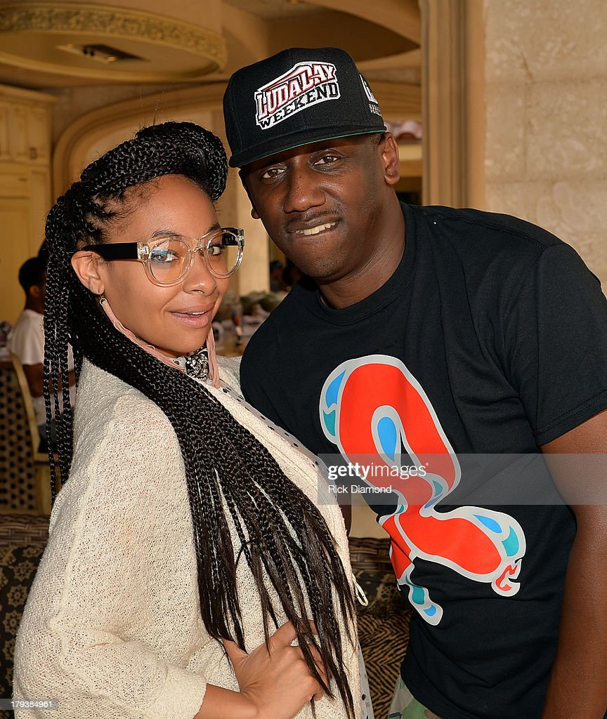 Actress Raven-Symone and Manager Chaka Zulu during Neuro Drinks At LudaDay Weekend Celebrity Pool Party on September 2, 2013 in Atlanta, Georgia.
