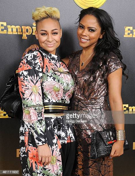 Actress RavenSymone and Shanica Knowles arrive at the red carpet premiere of 'Empire' at ArcLight Cinemas Cinerama Dome on January 6 2015 in...
