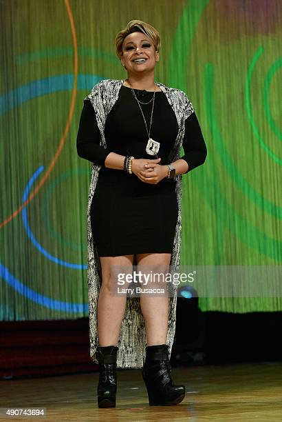 Actress RavenSymone speaks on stage at the 32nd Annual Walter Kaitz Foundation Fundraising Dinner Hosted By TV One at Marriott Marquis Times Square...