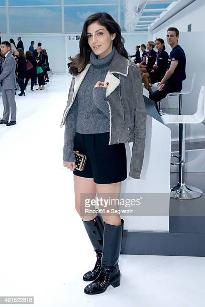 Actress Razane Jammal attends the Chanel show as part of the Paris Fashion Week Womenswear Spring/Summer 2016 Held at Grand Palais on October 6 2015...
