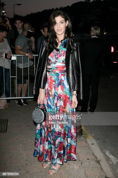 Actress Razane Jammal is seen during the 70th annual Cannes Film Festival at the 'Vanity Fair CHANEL' dinner at Tetou restaurant on May 24 2017 in...