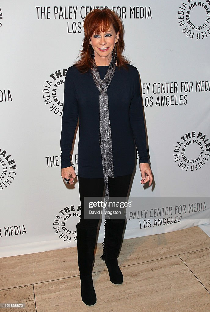 Actress <a gi-track='captionPersonalityLinkClicked' href=/galleries/search?phrase=Reba+McEntire&family=editorial&specificpeople=202959 ng-click='$event.stopPropagation()'>Reba McEntire</a> attends The Paley Center for Media's 2012 PaleyFest: Fall TV Preview Party for ABC at The Paley Center for Media on September 11, 2012 in Beverly Hills, California.