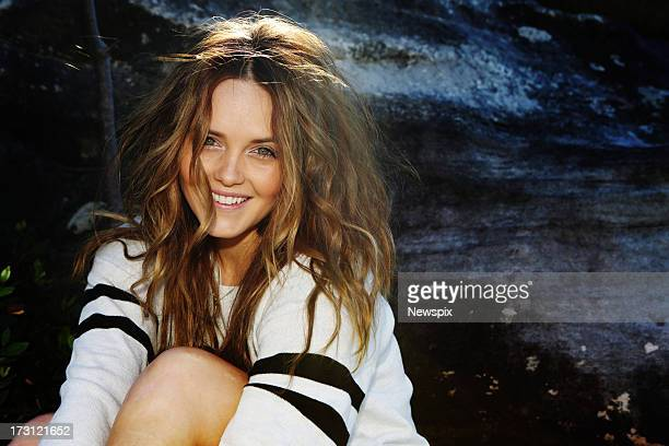Actress Rebecca Breeds who has been cast in a new US television series and Bollywood film poses at Cronulla on July 5 2013 in Sydney Australia