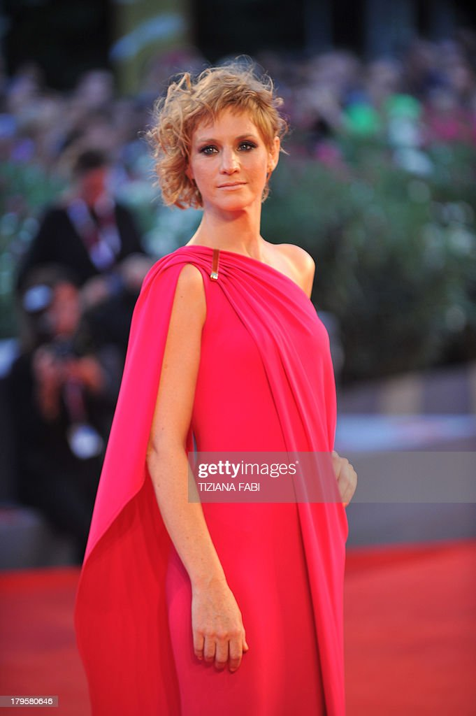 Actress Rebecca Convenant arrives for the screening of 'La Jalousie' presented in competition at the 70th Venice Film Festival on September 5, 2013 at Venice Lido.