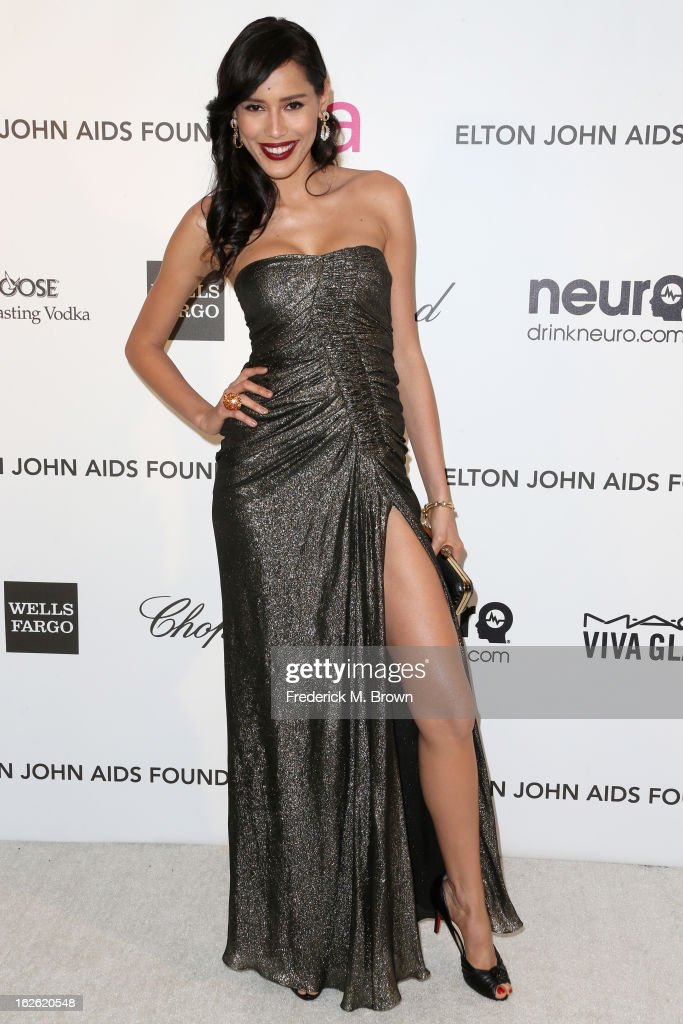Actress Rebecca Da Costa arrives at the 21st Annual Elton John AIDS Foundation's Oscar Viewing Party on February 24, 2013 in Los Angeles, California.