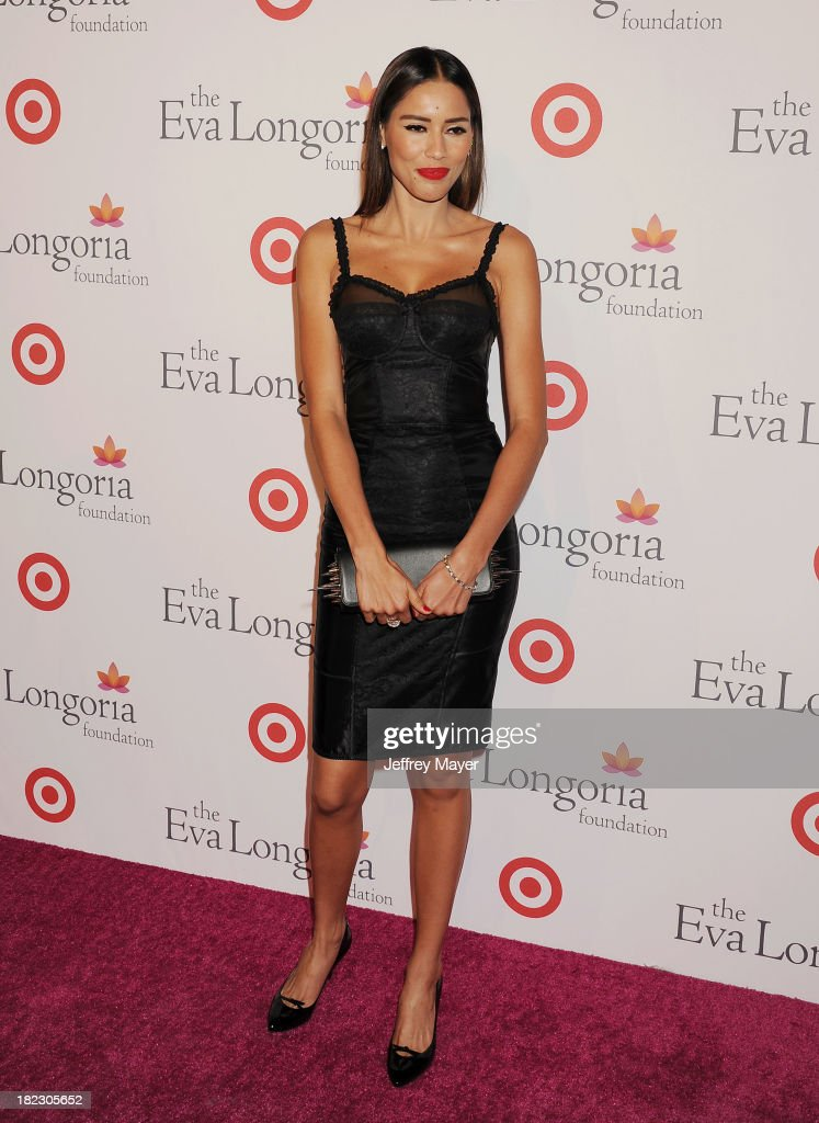 Actress Rebecca Da Costa arrives at the Eva Longoria Foundation Dinner at Beso restaurant on September 28, 2013 in Hollywood, California.