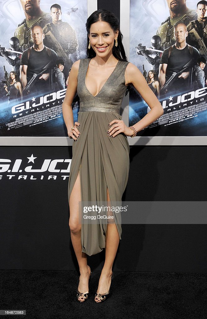 Actress Rebecca Da Costa arrives at the 'G.I. Joe: Retaliation' Los Angeles premiere at TCL Chinese Theatre on March 28, 2013 in Hollywood, California.