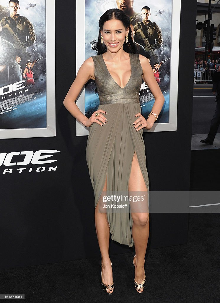 Actress Rebecca Da Costa arrives at the Los Angeles Premiere 'G.I. Joe: Retaliation' at TCL Chinese Theatre on March 28, 2013 in Hollywood, California.