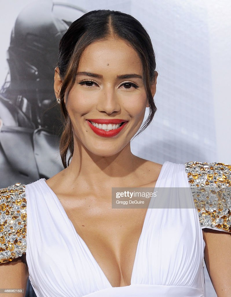 Actress Rebecca Da Costa arrives at the Los Angeles premiere of 'Robocop' at TCL Chinese Theatre on February 10, 2014 in Hollywood, California.