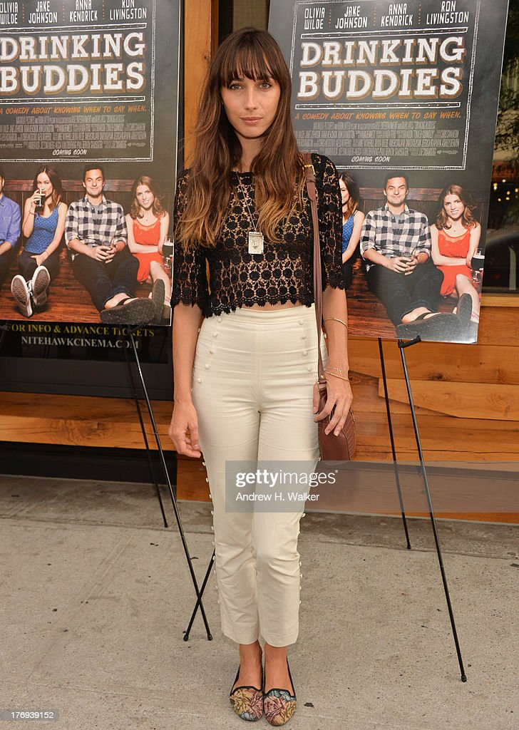 Actress Rebecca Dayan attends the 'Drinking Buddies' screening at Nitehawk Cinema on August 19, 2013 in the Brooklyn borough of New York City.