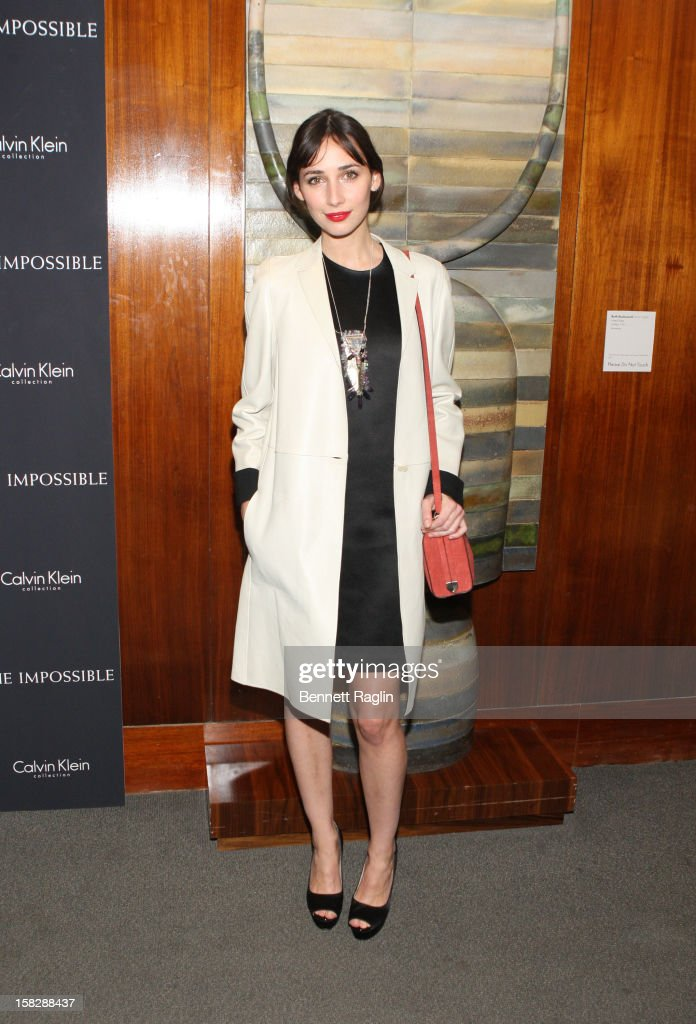 Actress Rebecca Dayan attends 'The Impossible' New York Special Screening at Museum of Art and Design on December 12, 2012 in New York City.