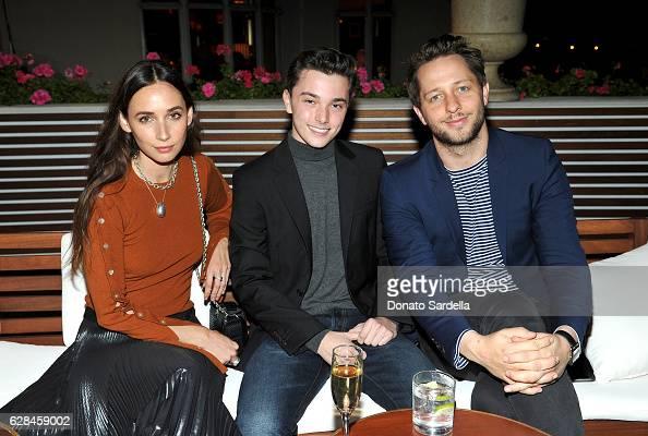 Actress Rebecca Dayan Sean Sheridan and writer Derek Blasberg wearing Sandro attend an intimate dinner hosted by Derek Blasberg Sandro Founder...