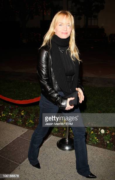 Actress Rebecca DeMornay arrives at a special screening of DreamWorks Pictures' 'Sweeney Todd' at the Paramount Theater on December 5 2007 in Los...