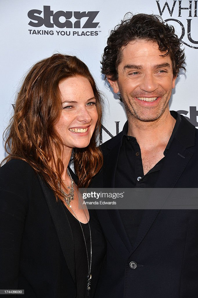 Actress Rebecca Ferguson (L) and actor <a gi-track='captionPersonalityLinkClicked' href=/galleries/search?phrase=James+Frain&family=editorial&specificpeople=2240982 ng-click='$event.stopPropagation()'>James Frain</a> arrive at 'Cocktails with the Queen' - the British Consulate's toast to the U.S launch of the Starz original series 'The White Queen' at the British Consul General's Residence on July 25, 2013 in Los Angeles, California.