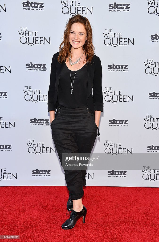 Actress Rebecca Ferguson arrives at 'Cocktails with the Queen' - the British Consulate's toast to the U.S launch of the Starz original series 'The White Queen' at the British Consul General's Residence on July 25, 2013 in Los Angeles, California.