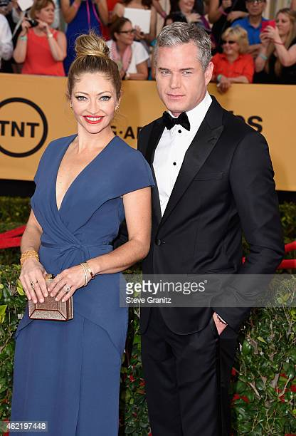 Actress Rebecca Gayheart and actor Eric Dane attend the 21st Annual Screen Actors Guild Awards at The Shrine Auditorium on January 25 2015 in Los...