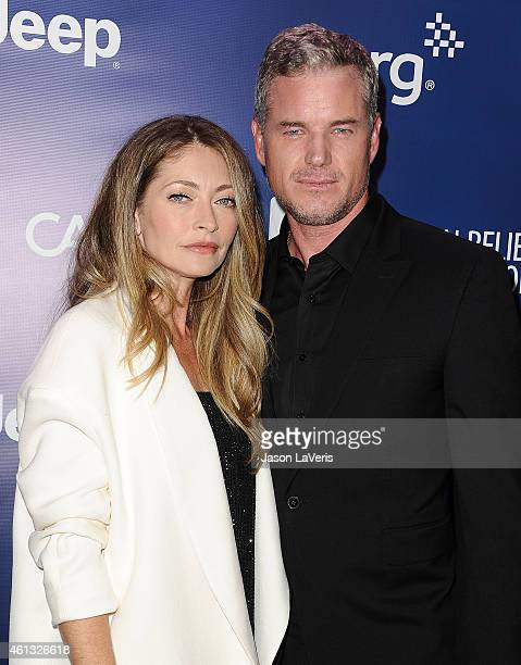Actress Rebecca Gayheart and actor Eric Dane attend the 'Help Haiti Home' gala at Montage Hotel on January 10 2015 in Los Angeles California