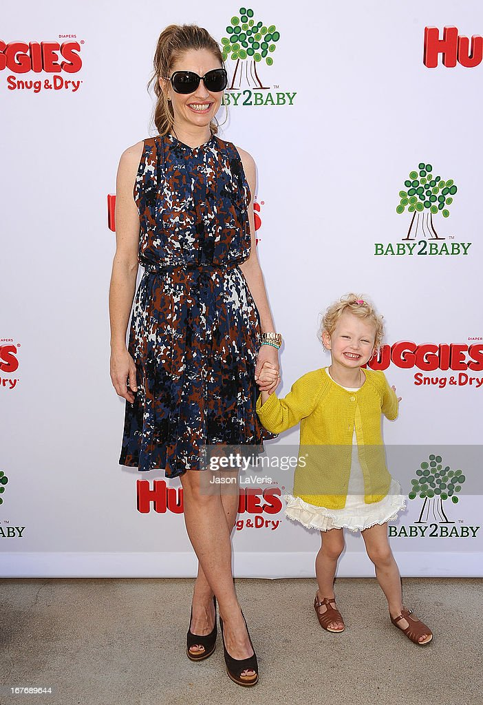 Actress Rebecca Gayheart and daughter Billie Beatrice Dane attend the Baby2Baby Mother's Day garden party on April 27, 2013 in Los Angeles, California.