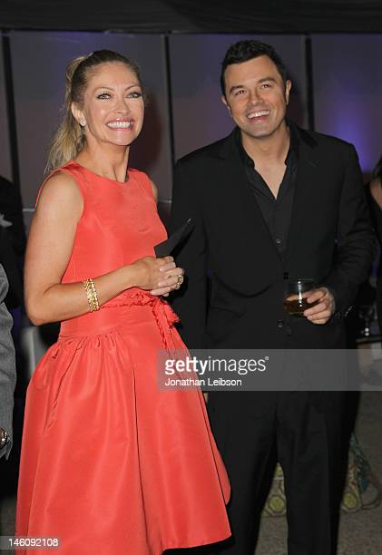 Actress Rebecca Gayheart and host Seth MacFarlane inside the 11th Annual Chrysalis Butterfly Ball sponsored by Audi Grey Goose Kayne Anderson and...