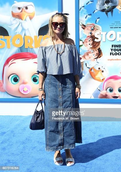 Actress Rebecca Gayheart arrives at the premiere of Warner Bros Pictures' 'Storks' at Regency Village Theatre on September 17 2016 in Westwood...