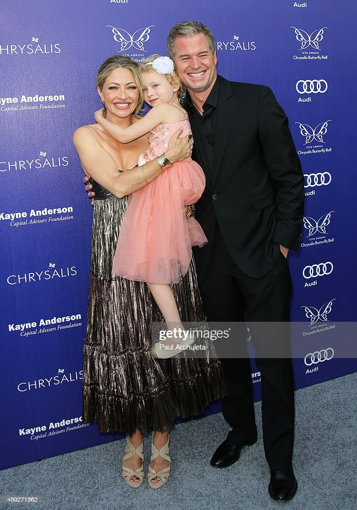 Actress Rebecca Gayheart, Billie Dane and Actor Eric Dane attend the 13th Annual Chrysalis Butterfly Ball at a private Mandeville Canyon Estate on June 7, 2014 in Los Angeles, California.
