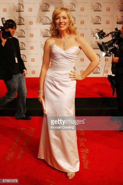 Actress Rebecca Gibney arrives at the 48th Annual TV Week Logie Awards at the Crown Entertainment Complex on May 7 2006 in Melbourne Australia