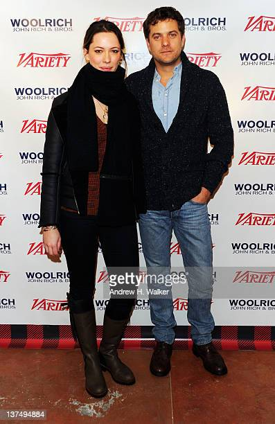 Actress Rebecca Hall and actor Joshua Jackson attend Day 1 of The Variety Studio at The 2012 Sundance Film Festival at Variety Studio on January 21...