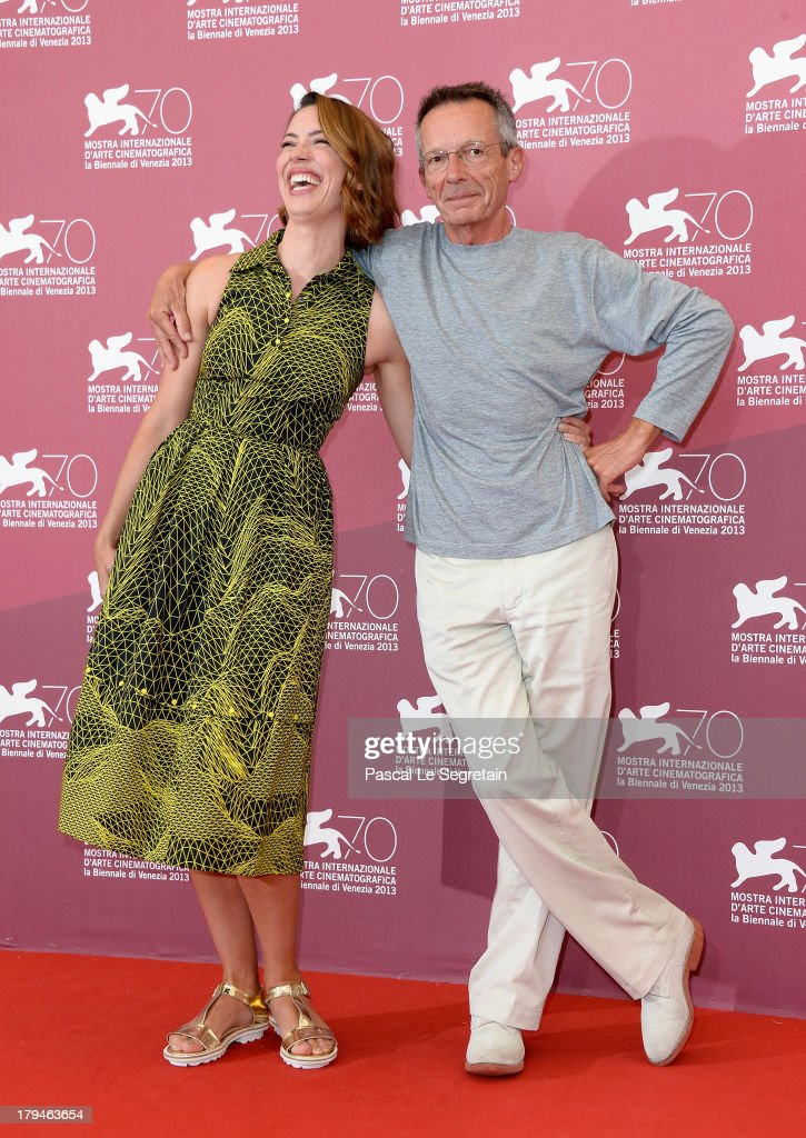 Actress Rebecca Hall and director Patrice Leconte attend 'Une Promesse' Photocall during the 70th Venice International Film Festival at Palazzo del...