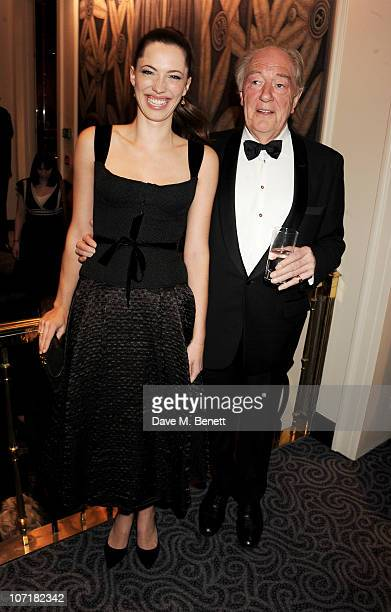 Actress Rebecca Hall and Sir Michael Gambon attend the London Evening Standard Theatre Awards at The Savoy Hotel on November 28 2010 in London England
