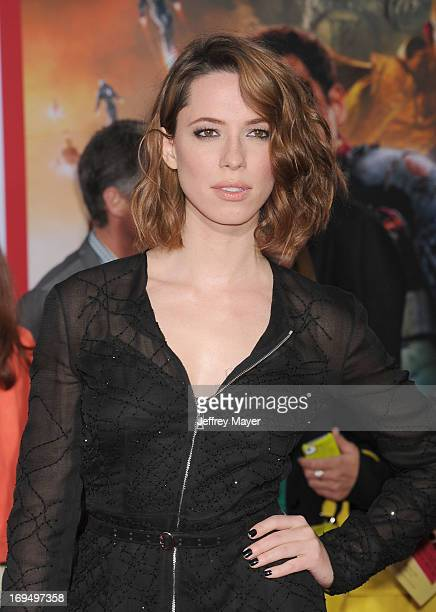 Actress Rebecca Hall arrives at the Los Angeles Premiere of 'Iron Man 3' at the El Capitan Theatre on April 24 2013 in Hollywood California