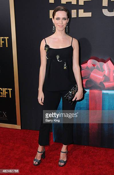 Actress Rebecca Hall attends STX Entertainment's 'The Gift' Los Angeles premiere at Regal Cinema LA Live on July 30 2015 in Los Angeles California