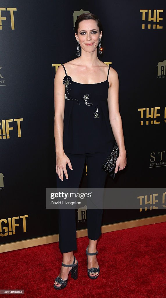 Actress Rebecca Hall attends STX Entertainment's 'The Gift' Los Angeles premiere at Regal Cinemas LA Live on July 30 2015 in Los Angeles California