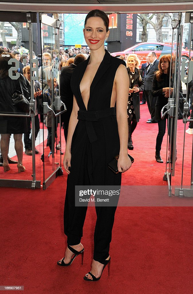 Actress Rebecca Hall attends the 'Iron Man 3' Special Screening at the Odeon Leicester Square on April 18, 2013 in London, England.