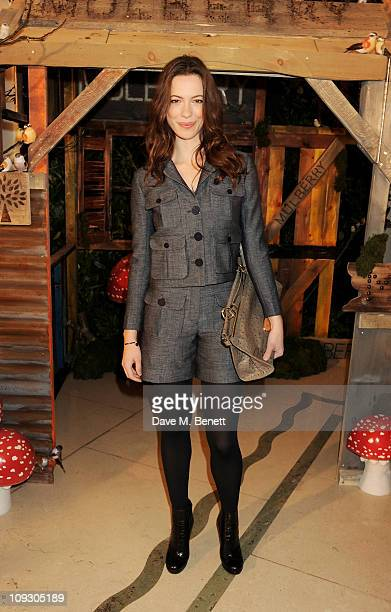Actress Rebecca Hall attends the Mulberry Salon Show at London Fashion Week Autumn/Winter 2011 at Claridge's Hotel on February 20 2011 in London...